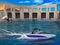 Stock Image : Wakeboarder y lancha de carreras extremos - ilustraciones digitales