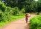 Stock Image : Walking girl