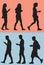 Stock Image : Walking While Texting