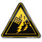Stock Image : Warning earthquake and earthquake area
