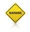 Stock Image : Warning Road Sign