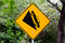 Stock Image : Warning sign steep slope