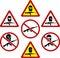 Stock Image : Warning signs of terrorism