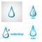 Stock Image : Water drop logo