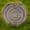 Stock Image : Water Manhole Cover in Grass