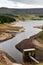 Stock Image : Water reservoir aerial view