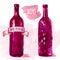 Watercolor artistic wine bottle