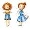 Watercolor girls