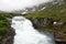 Stock Image : Waterfalle под облаками