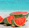 Stock Image : Watermelon and sea