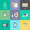 Stock Image : Web design and development flat icons