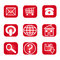 Stock Image : Web Nav Icon Red