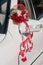 Stock Image : Wedding car decoration