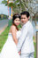 Stock Image : Wedding couple in the park in thailand