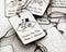 Stock Image : Wedding gift tags