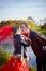 Stock Image : Wedding. Walk. Kiss.