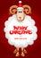 Stock Image :  Weihnachtsmann auf einem Schlitten