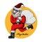 Stock Image :  Weihnachtsmann-und Weihnachtsbaum