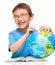 Stock Image :  Weinig jongen houdt bol