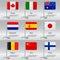 Stock Image :  Wereldvlaggen