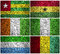 Stock Image : West Africa flags