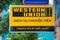 Stock Image : Western Union signboard in Saigon
