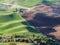 Stock Image : Wheat fields contour the Palouse hills