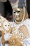 Stock Image : White and golden mask at Carnival of Venice