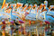 Stock Image : White Pelicans and Spoonbills