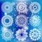 Stock Image : White Round Ornament Pattern