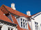 Stock Image : White traditional Danish houses