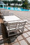 Stock Image : White wooden chair