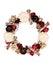 Stock Image :  Wianek dekorujący z papierowym kwiatem