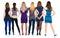 Stock Image : Widok tylna grupowa kobieta