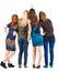 Stock Image : Widok tylne piękne grupowe kobiety