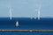 Stock Image :  Windenergie Kopenhagen oud en modern Denemarken