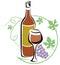 Stock Image : Wine logo