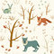 Stock Image : Winter forest seamless pattern