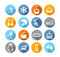 Stock Image : Winter Icons Flat Design
