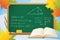 Stock Image :  Wiskunde en meetkunde de achtergrond van de schoolherfst
