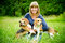 Stock Image : Woman with beagle
