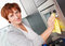 Stock Image : Woman cleaning house