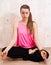 Stock Image : Woman doing yoga