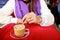 Stock Image : Woman drinking coffee