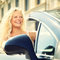 Stock Image : Woman driving car - female driver