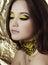 Stock Image : Woman with fashion makeup