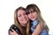 Stock Image : Woman with girl both smiling