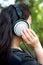Stock Image : Woman and Headphone