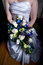 Stock Image : Woman Holding Bouquet