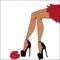 Stock Image : Woman legs in pantyhose